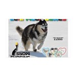 Snow-Shoeing WOOF Games 2014 Wall Decal