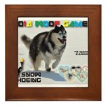 Snow-Shoeing WOOF Games 2014 Framed Tile