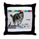 Snow-Shoeing WOOF Games 2014 Throw Pillow
