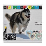 Snow-Shoeing WOOF Games 2014 Tile Coaster