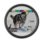 Snow-Shoeing WOOF Games 2014 Large Wall Clock
