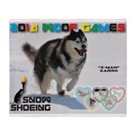 Snow-Shoeing WOOF Games 2014 Throw Blanket