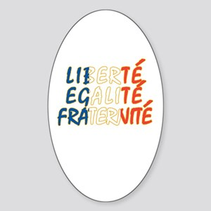Liberte Egalite Fraternite Oval Sticker