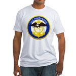 USS MACDONOUGH Fitted T-Shirt
