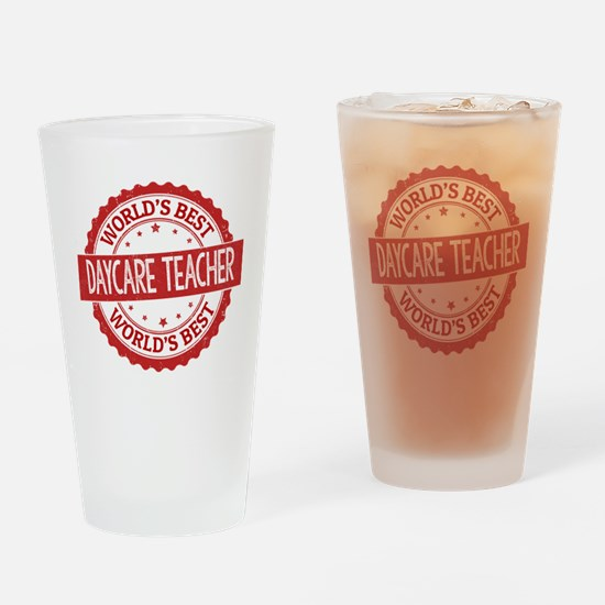 Unique Worlds greatest support teacher Drinking Glass