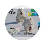 Husky Hurdle WOOF Games 2014 Ornament (Round)