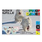Husky Hurdle WOOF Games 2014 Postcards (Package of