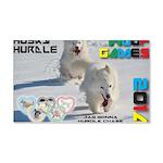 Husky Hurdle WOOF Games 2014 Wall Decal