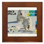 Husky Hurdle WOOF Games 2014 Framed Tile
