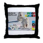 Husky Hurdle WOOF Games 2014 Throw Pillow
