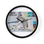Husky Hurdle WOOF Games 2014 Wall Clock