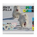 Husky Hurdle WOOF Games 2014 Tile Coaster