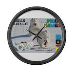 Husky Hurdle WOOF Games 2014 Large Wall Clock