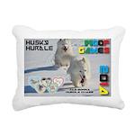 Husky Hurdle WOOF Games 2014 Rectangular Canvas Pi