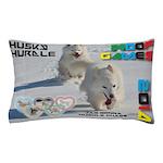 Husky Hurdle WOOF Games 2014 Pillow Case