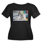 Husky Hurdle WOOF Games 2014 Plus Size T-Shirt