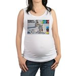 Husky Hurdle WOOF Games 2014 Maternity Tank Top