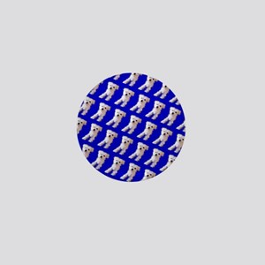 Munchin Maltese Blue Designer 23 Mini Button