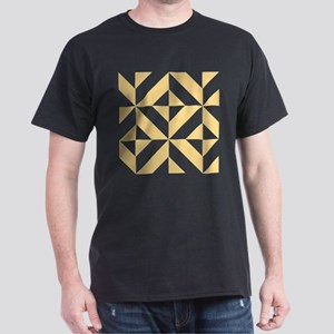 Melon Geometric Cube Pattern Dark T-Shirt