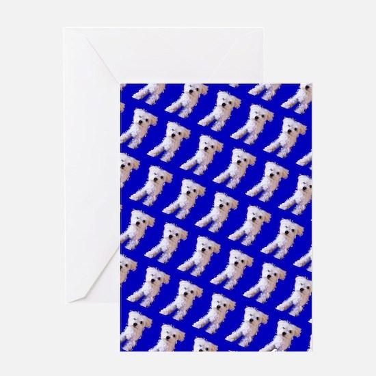 Munchin Maltese Blue Designer 23 Greeting Cards