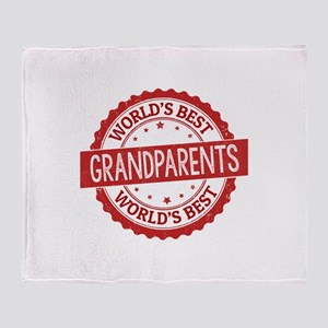 World's Best Grandparents Throw Blanket