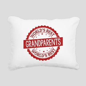 World's Best Grandparent Rectangular Canvas Pillow