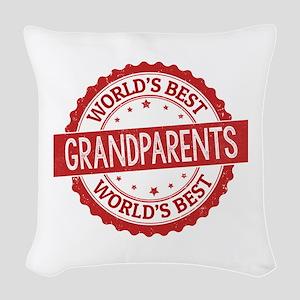 World's Best Grandparents Woven Throw Pillow