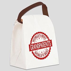 World's Best Grandparents Canvas Lunch Bag