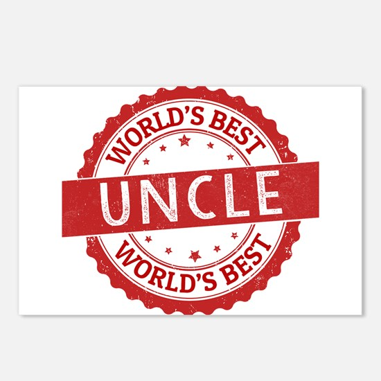 World's Best Uncle Postcards (Package of 8)