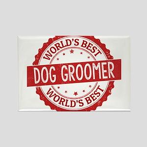 World's Best Dog Groomer Magnets