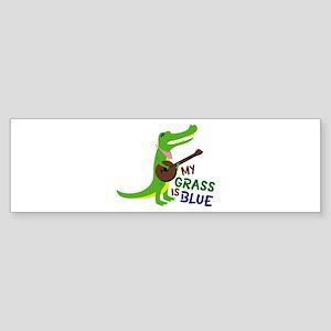 Grass Is Blue Bumper Sticker