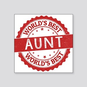 World's Best Aunt Sticker
