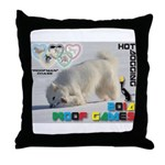 Hot-Dogging WOOF Games 2014 Throw Pillow