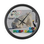 Hot-Dogging WOOF Games 2014 Large Wall Clock