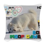 Hot-Dogging WOOF Games 2014 Woven Throw Pillow