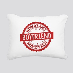 World's Best Boyfriend Rectangular Canvas Pillow