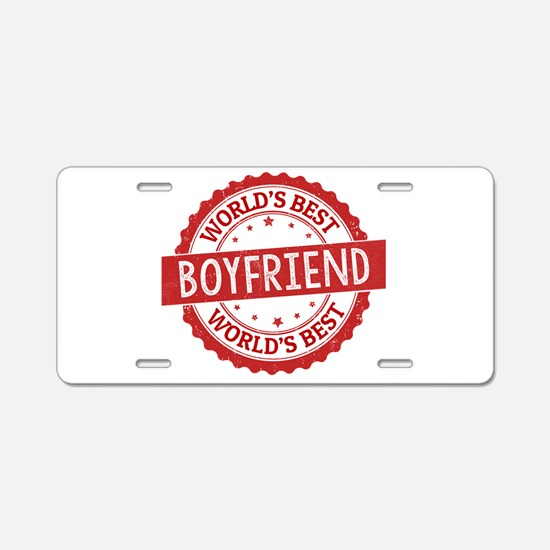 World's Best Boyfriend Aluminum License Plate