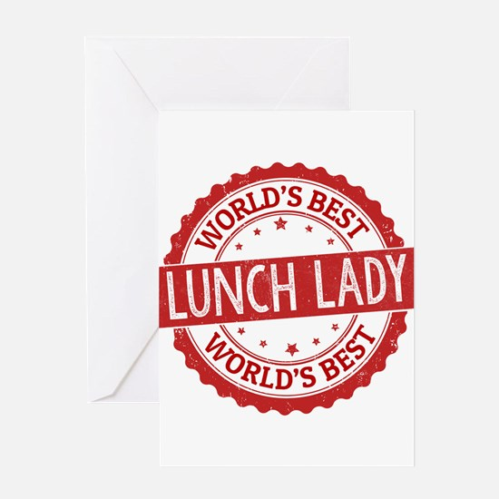 World's Best Lunch Lady Greeting Cards