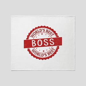 World's Best Boss Throw Blanket