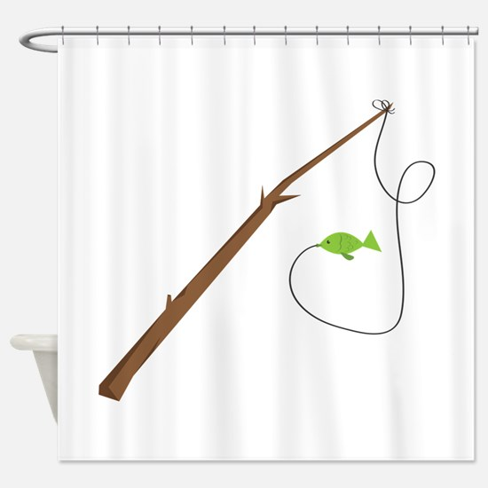 Angling Camp Shower Curtain