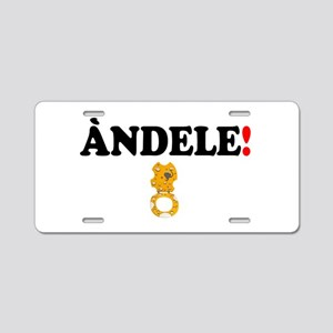 ANDELE - CHEEZIE SEAT! - Aluminum License Plate