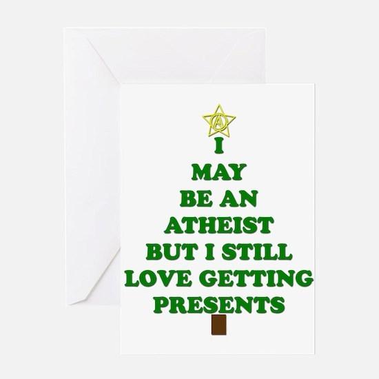 Atheist Holiday Tree Greeting Cards