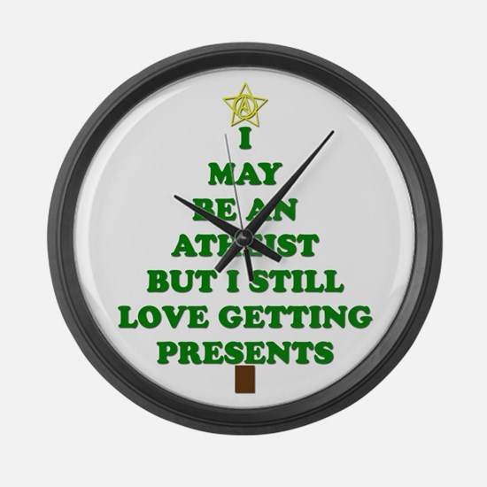 Atheist Holiday Tree Large Wall Clock