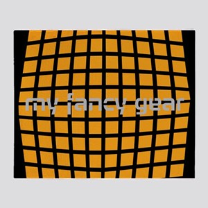 Cool Orange Checked Throw Blanket