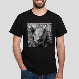 Sweet Piglet,black white T-Shirt