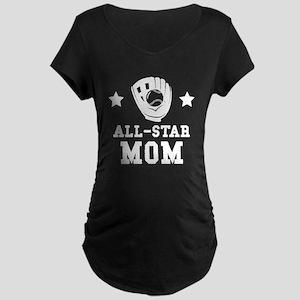 All Star Softball Mom Maternity T-Shirt