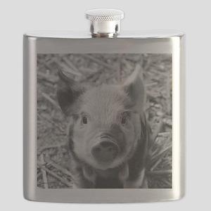 Sweet Piglet,black white Flask