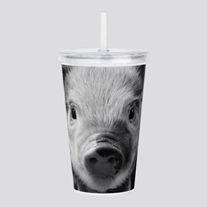 Sweet Piglet,black whi Acrylic Double-wall Tumbler