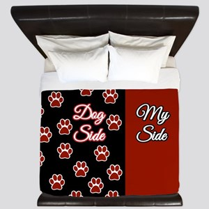 Dog Side with Paws King Duvet
