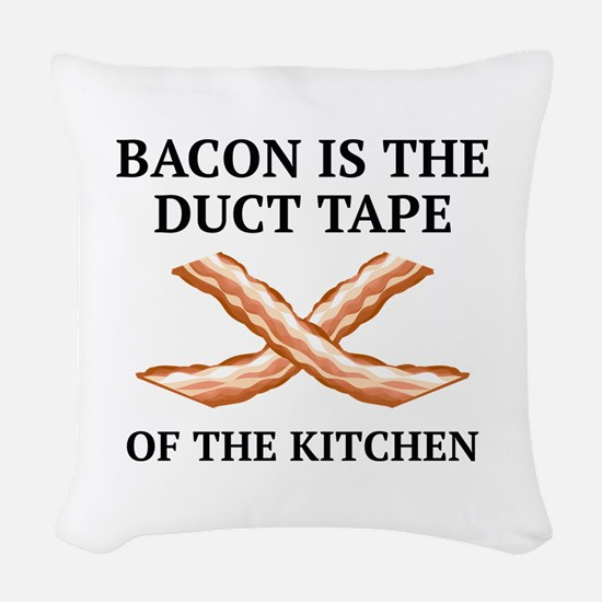 Duct Tape Of The Kitchen Woven Throw Pillow